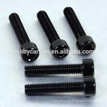 High Precision Black M3*18mm Hex Socket Cap Aluminum Screw/Bolt