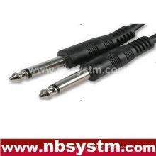 6,35 mm Mono-Stecker auf 6,35 mm Mono-Steckerkabel 15m
