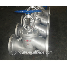 Válvula de globo de ângulo válvula de globo de água manual motorizada aço inoxidável válvula de globo de aço fundido PN 16-100 fabricante