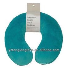 Almohadilla del cuello del recorrido de la almohadilla de la espuma de la memoria en forma de u