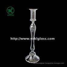 Glass Candle Holder for Table Ware with Single Post (DIA 9.5*34)