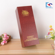 Caja de vino de lujo especial de encargo de la cartulina de papel de los proveedores chinos