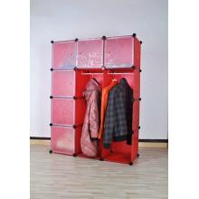 Organisateur en plastique rouge de stockage de garde-robe, produits de stockage à la maison