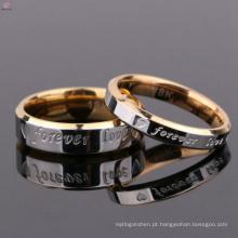 A jóia feita sob encomenda para sempre ama o anel de dedo dos pares do Valentim de aço inoxidável