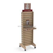Qualität Freie Standing Retail Store Werbung Movable Sperrholz Slatwall Leggings Slatwall Schuh Display