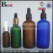 Bouteilles d'huile givrées colorées 30/50 / 100ml; bouteilles d'huile essentielle colorées; Bouteille en verre à huile rechargeable à Dubaï