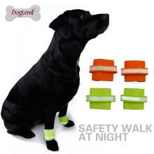 Atacado macio refletindo nylon pet pulseira de segurança cão pulseira