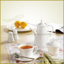 8 PCS White Porcelain Tableware Edge-up Series