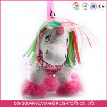 Juguetes de animales de peluche personalizados para niños Unicornio felpa de juguete