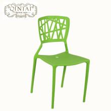Muebles modernos de plástico PP apilable silla de comedor