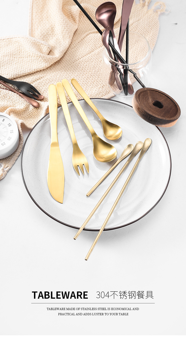 gold silverware flatware