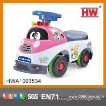 Hot Venda Novo Modelo Baby Walker Cartoon Carros Para Crianças Com Música Pink Cor