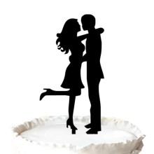 Noivo e noiva silhueta Topper