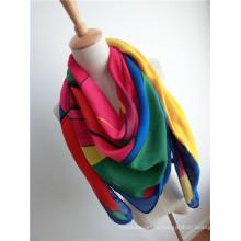 Модные вискозные квадратные платки для леди