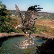 Fonte de jardim de bronze de alta qualidade fonte de água águia