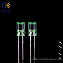Precio razonable claro 5mm diodo LED cóncavo 520nm verde