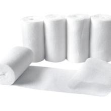 Rouleau de bandage de gaze absorbant en coton jetable