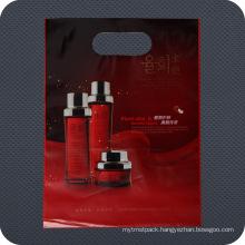 Cosmetics Plastic Die Cut Handle Shopping Bag