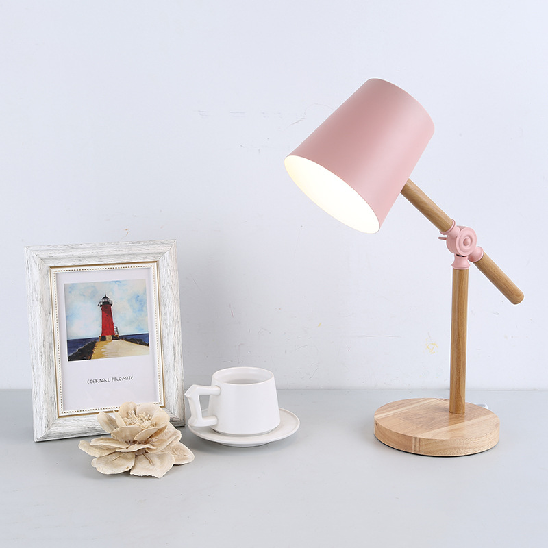 Pink Wooden Table Lamps