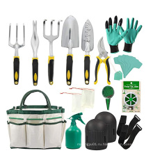 Набор алюминиевых ручных инструментов с садовыми перчатками