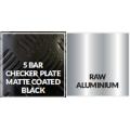 Black Aluminium 5 Bar Tread Plate