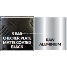 Schwarze 5-bar-Trittplatte aus Aluminium