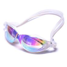 Gafas de natación de silicona de perfil bajo y gran sello en diseño antivaho