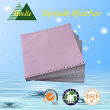 241mm Width 3-Ply Punching Lined Convenient Continuous Type Form Printing Paper
