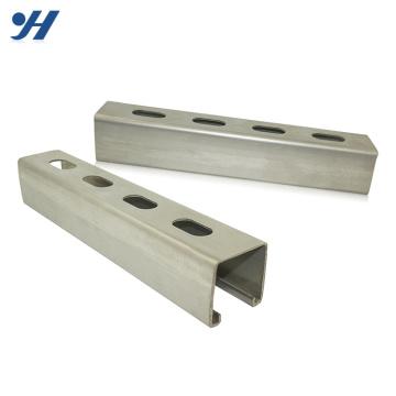 Suporte de canal de aço galvanizado zinco do suporte de materiais de construção do canal c do suporte