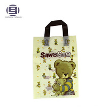 Red promotional lovely carton loop handle souvenir bag for shopping