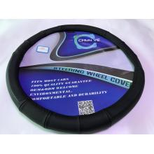 Black Leather Steering Wheel Cover