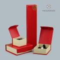 Benutzerdefinierte Logo Druck rot Schmuck Sets Box neu