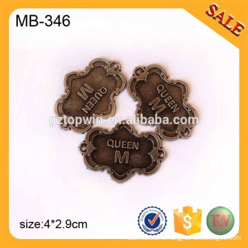 MB346 Античный латунный металлический предмет одежды Одежда Металл Имя Теги Металлический ярлык