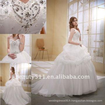 Astergarden Fashion Beading A-line Flower Velils comme cadeau Noblest Robe de mariée en train de foularderie MA-002
