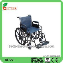 Cadeira de rodas dobrável em alumínio