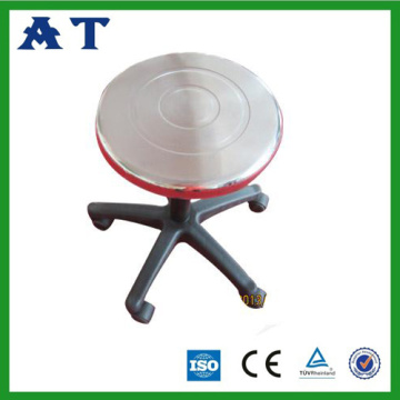 Stainless steel operation Stool with plastic feet
