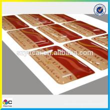 Etiqueta adesiva adesivo em resina de resina