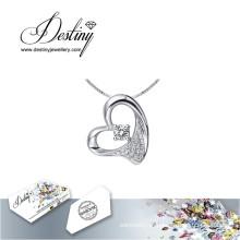 Destino joias cristal de Swarovski colar pingente amada
