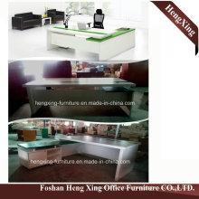HX-5DE528 Modern Office Furniture Melamine Laminated L Shape Office Desk