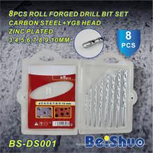 China Manufacturer High Quality 8PCS Roll Forged Drill Bit Set