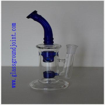 Tubo de vidro de fumar com juntas de terra de vidro