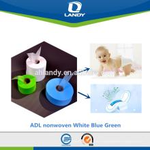 materia prima sanitaria de la servilleta suave Aire caliente a través de ADL no tejido