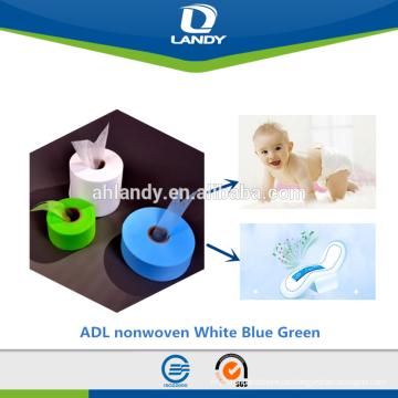 weicher Stoff der Hygienevorlageweichwarmluft durch nichtgewebten ADL