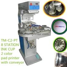 TM-C2-P bicolore incurvé Surface impression imprimante Pad carrousel