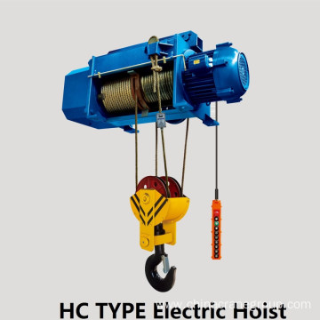 Electric Wire Rope Hoist With Trollry