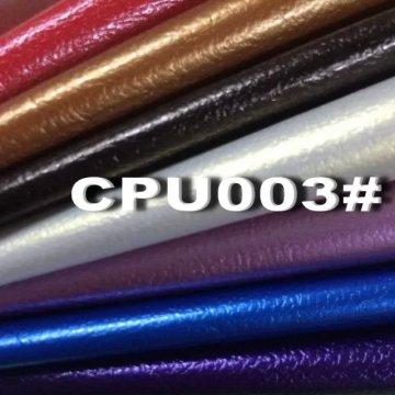 Couro sintético respirável dos materiais do plutônio para a mobília do sofá (CPU003 #)