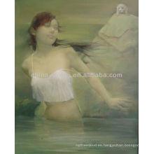 Pintura al óleo de desnudo