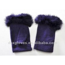 female half finger cashmere gloves