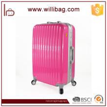 La carretilla durable del viaje de la calidad superior empaqueta el equipaje de aluminio de la maleta del marco