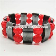 01B5009-1 / novos produtos para 2013 / hematita spacer pulseira de jóias / bracelete de hematita / pulseiras de saúde hematita magnético